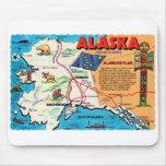Retro Vintage Kitsch Postcard Alaska 49th State Mouse Pads