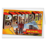 Retro Vintage Kitsch Postcard Bemidji Paul Bunyan Greeting Card