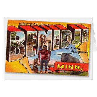 Retro Vintage Kitsch Postcard Bemidji Paul Bunyan Greeting Card