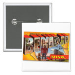 Retro Vintage Kitsch Postcard Bemidji Paul Bunyan Button