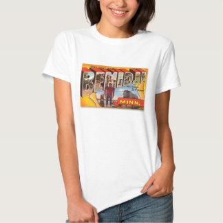 Retro Vintage Kitsch Postcard Bemidji Paul Bunyan T Shirt