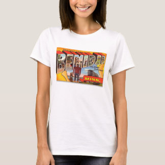 Retro Vintage Kitsch Postcard Bemidji Paul Bunyan T-Shirt
