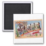 Retro Vintage Kitsch Postcard Las Vegas Nevada 2 Inch Square Magnet