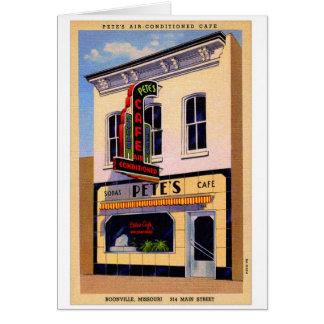Retro Vintage Kitsch Postcard Pete's Cafe Boon, MO