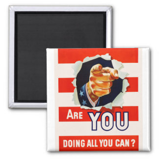 Retro Vintage Kitsch Poster Are You Doing All Can? Magnet