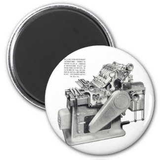 Retro Vintage Kitsch Printing Press Fridge Magnets