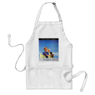 Retro Vintage Kitsch Propaganda What We Fight For Adult Apron