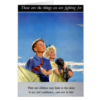 Retro Vintage Kitsch Propaganda What We Fight For Card