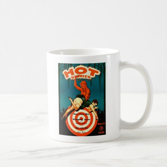 Retro Vintage Kitsch Pulp Hot Stories Magazine Coffee Mug
