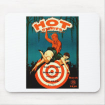 Retro Vintage Kitsch Pulp Hot Stories Magazine Mouse Pad