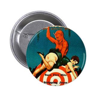 Retro Vintage Kitsch Pulp Hot Stories Magazine Pinback Button
