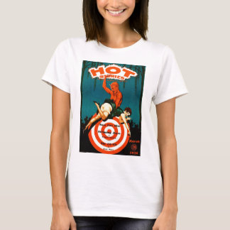 Retro Vintage Kitsch Pulp Hot Stories Magazine T-Shirt