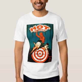 Retro Vintage Kitsch Pulp Hot Stories Magazine Tee Shirt