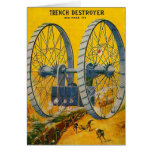 Retro Vintage Kitsch Pulp Sci Fi Trench Destroyer Card