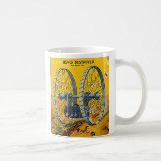 Retro Vintage Kitsch Pulp Sci Fi Trench Destroyer Mug