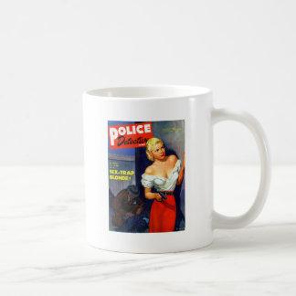 Retro Vintage Kitsch Pulp Women Police Detective Mug