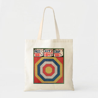 Retro Vintage Kitsch Punch Board Gamble Pass Hit Tote Bag