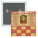 Retro Vintage Kitsch Punchboard Gambling Wild Bill Pinback Buttons
