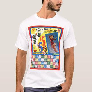 Retro Vintage Kitsch Punchboard Pin Up Fins Deuces T-Shirt