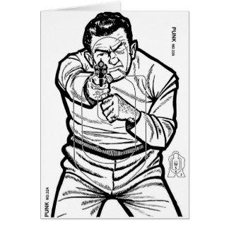 Retro Vintage Kitsch Punk Shooting Range Target Greeting Cards