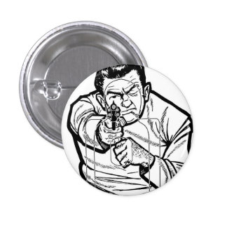 Retro Vintage Kitsch Punk Shooting Range Target Pinback Button
