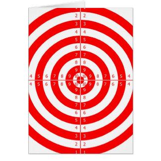 Retro Vintage Kitsch Red Archery Target Bullseye Card
