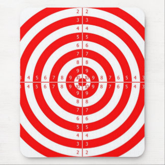 Retro Vintage Kitsch Red Archery Target Bullseye Mouse Pad