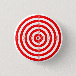 Retro Vintage Kitsch Red Archery Target Bullseye Pinback Button