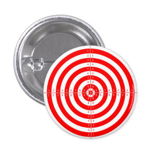 Retro Vintage Kitsch Red Archery Target Bullseye Pinback Button