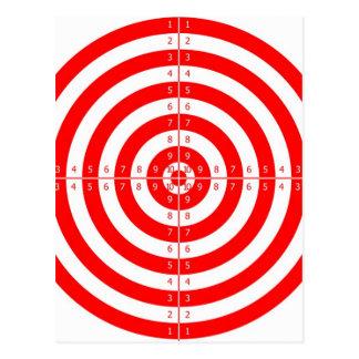 Retro Vintage Kitsch Red Archery Target Bullseye Postcard