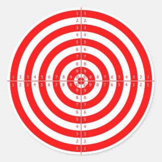 Retro Vintage Kitsch Red Archery Target Bullseye Round Sticker