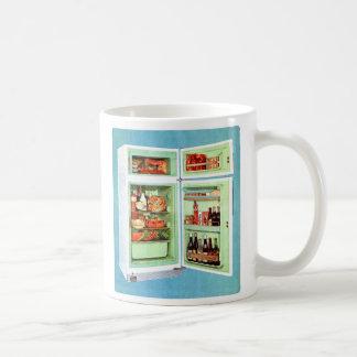 Retro Vintage Kitsch Refrigerator Fridge Stuffed! Coffee Mug