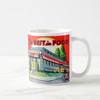 Retro Vintage Kitsch Restaurant Best in Food Coffee Mug