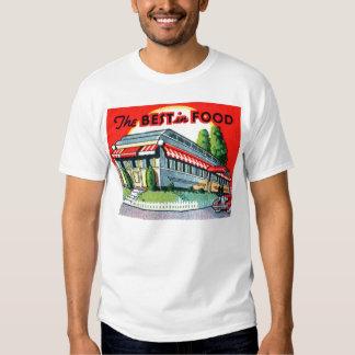 Retro Vintage Kitsch Restaurant Best in Food T-shirt