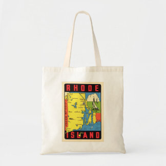 Retro Vintage Kitsch Rhode Island Rhody Decal Tote Bag