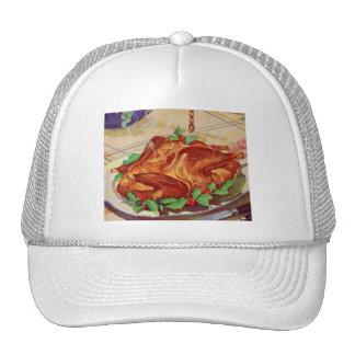 Retro Vintage Kitsch Roasted Turkey Cookbook Art Trucker Hat