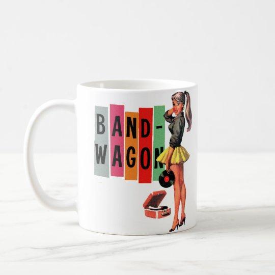 Retro Vintage Kitsch Rockabilly Girl Band Wagon Coffee Mug
