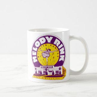 Retro Vintage Kitsch Rollerskating 'Melody Rink' Coffee Mug