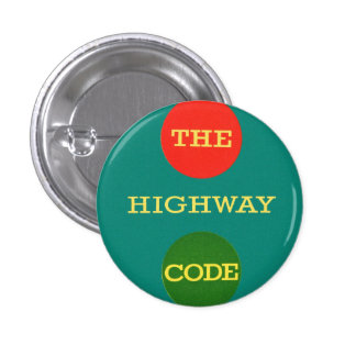 Retro Vintage Kitsch Safety The Highway Code UK Pin
