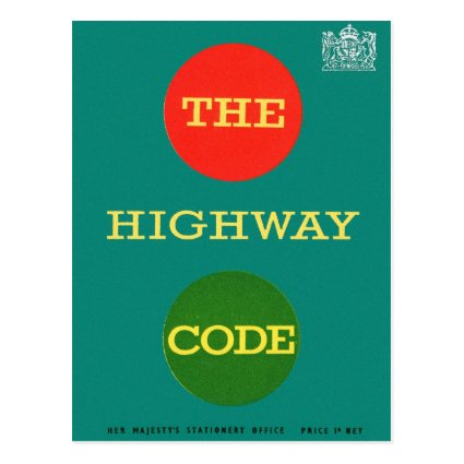 Retro Vintage Kitsch Safety The Highway Code UK Post Cards
