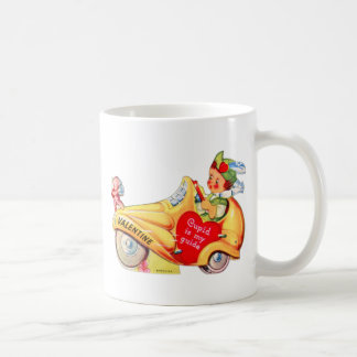 Retro Vintage Kitsch School Valentine Cupid Coffee Mug