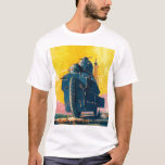 Retro Vintage Kitsch Sci Fi 20s War Machine T-Shirt