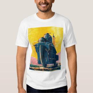 Retro Vintage Kitsch Sci Fi 20s War Machine Tee Shirt
