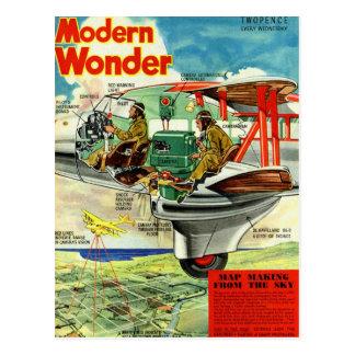 Retro Vintage Kitsch Sci Fi 30s Modern Wonder Postcard