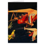 Retro Vintage Kitsch Sci Fi 30s Pulp Air Battle Card