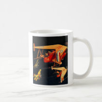 Retro Vintage Kitsch Sci Fi 30s Pulp Air Battle Coffee Mug