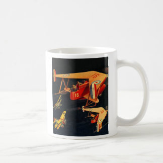 Retro Vintage Kitsch Sci Fi 30s Pulp Air Battle Coffee Mugs