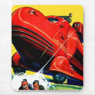 Retro Vintage Kitsch Sci Fi 30s Riot Control Mouse Pad