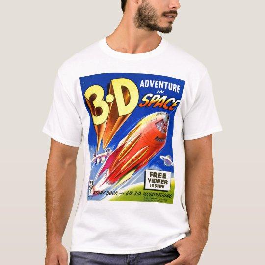 Retro Vintage Kitsch Sci Fi 3D Adventure in Space T-Shirt