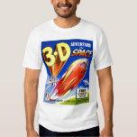 Retro Vintage Kitsch Sci Fi 3D Adventure in Space Tee Shirt
